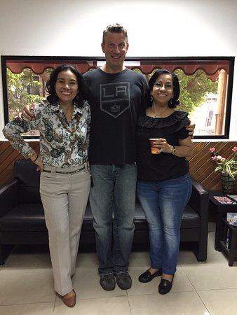 The Spanish Panama School - Day Classes: One of my profesoras and the school administrator
