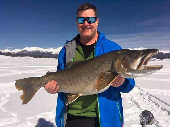 "Gunnison, Kolorado: TJ with 38.5"" lake trout. Nice fish!!!!!"