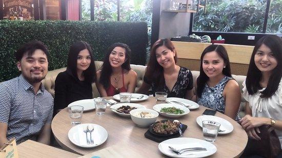 Al Fresco dining with cousins last December.