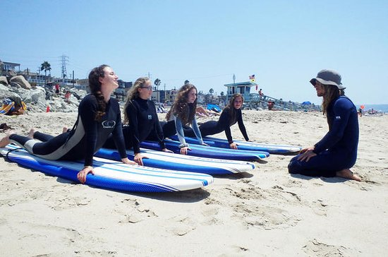 Lezioni di surf a Huntington Beach
