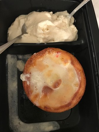 California Pizza Kitchen : Butter cake and ice cream take out