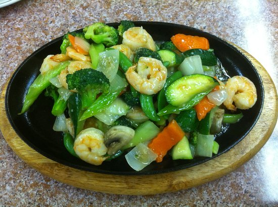 Queen Charlotte City, Canada: Prawns on Sizzling Plate (2012)