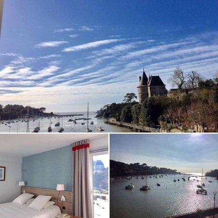 Hotel Beau Soleil : Chambre Océan vue port et château