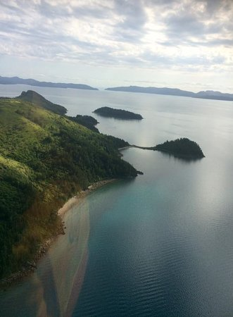 HeliReef Whitsunday Day Tours: View from the helicopter
