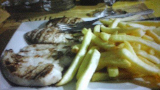 Exultate: chicken and chips
