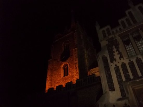 Chelmsford, UK: The cathedral at night