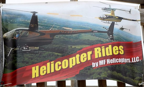 East Troy, WI: Helicopter ride banner