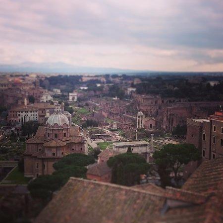 Panorama Foto Di Roma Dal Cielo Terrazza Delle Quadrighe Roma