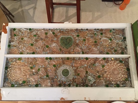 Silver Lake, IN: This is the result of a glass mosaic class I took with the fabulous artist and teacher, Brenda R
