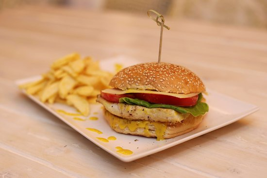 Andros Town, Grecia: Chicken Burger