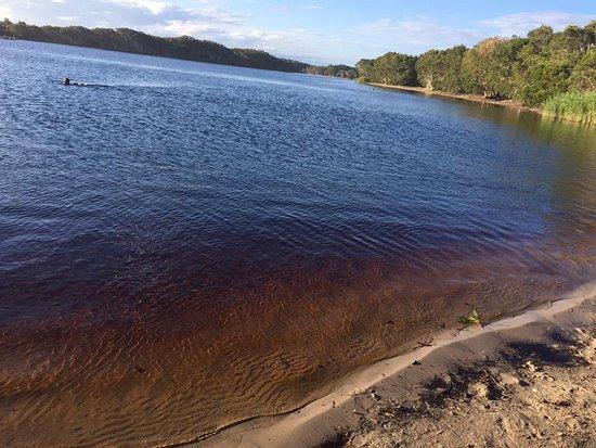 Lennox Head, Austrália: beautiful bronze coloured water