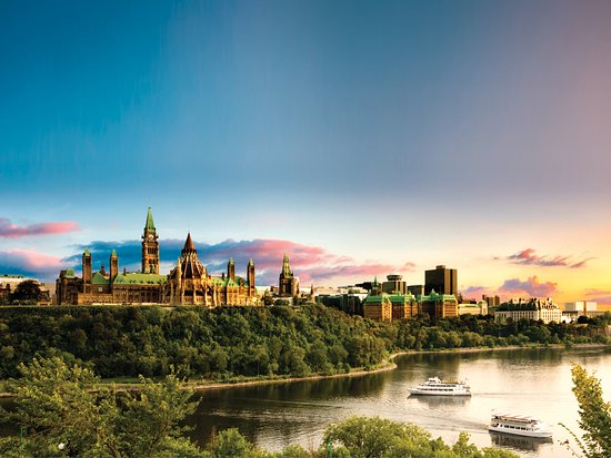 View of the Parliament Buildings and the Ottawa River - Ottawa Tourism