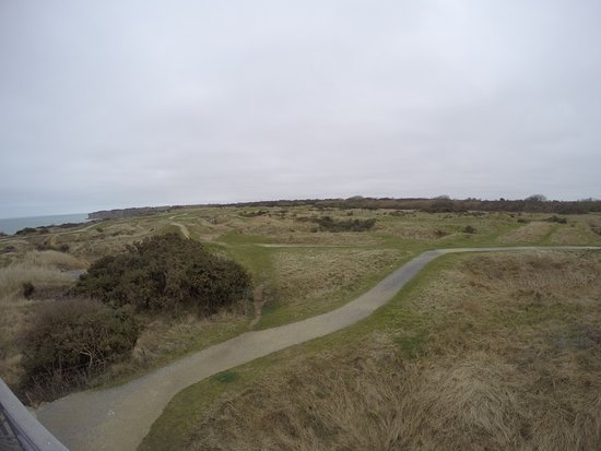 Pointe du Hoc: Pathways to walk along. Photo from my personal blog, The Katie Show Blog