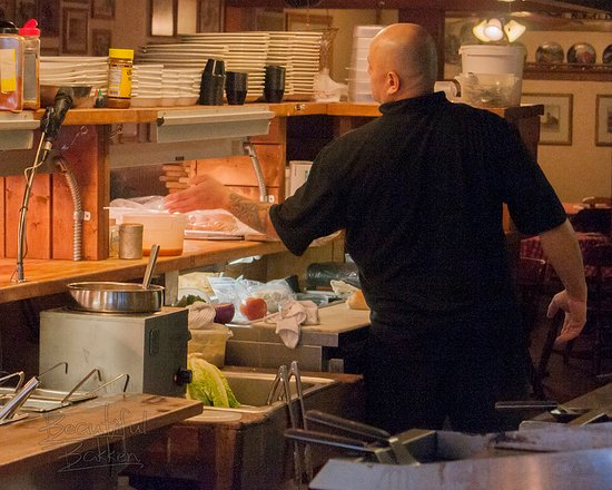 Killdeer, ND: The chef does an outstanding job of preparing meals while also greeting people.