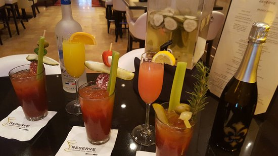 Bloody Marys and mimosas at Reserve.