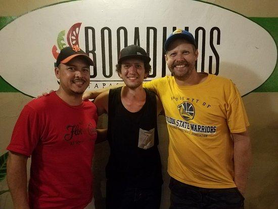 Bocadillos - Tapas Kitchen & Bar: Carlos, Dan the Magician and myself (JJ)!
