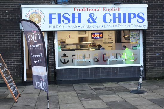Traditional English Fish & Chips: Why not call in and treat yourself to a lovely hot Rijo42 speciality coffee or cold drink and a