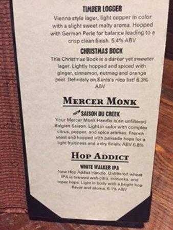 Grove City, PA: beer descriptions