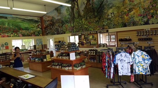 Mountain View, Havaí: spacious gift shop...