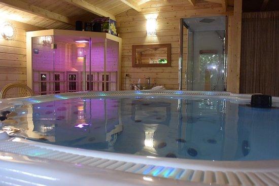 atypique spa espace chalet avec sauna jacuzzi douche coin dtente