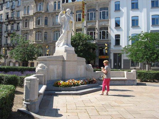 Anderlecht, Belçika: monument aux Forains morts pour la Belgique