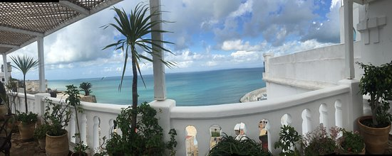 La Tangerina: panoramic view of the Mediterranean from the 4th floor terrace.