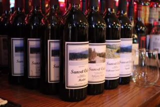 Cle Elum, WA: Sunset Cafe Label Wines from our processer in Horse Heaven Hills, Wa
