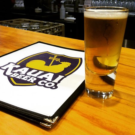 Kauai Beer Company: Sip a tall cold one while reading the menu.
