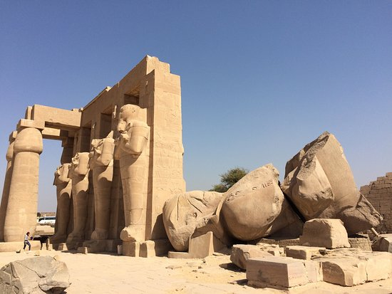 ‪Ramesseum (Mortuary Temple of Ramses II)‬