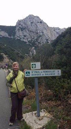 Gorges de Galamus: Sign post