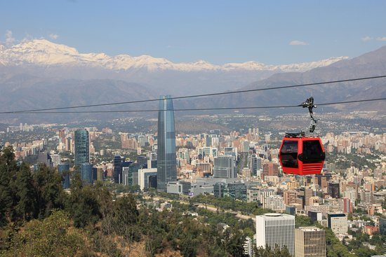 Image result for andes from the teleferico in Santiago