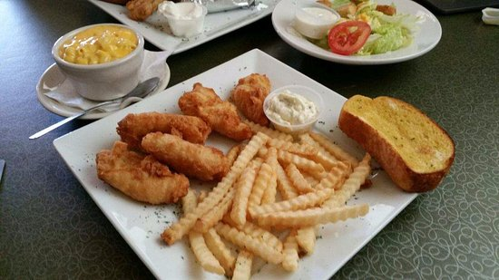 Monroe, WI: Beer Battered Cod with Fries or upgrade to mac & cheese