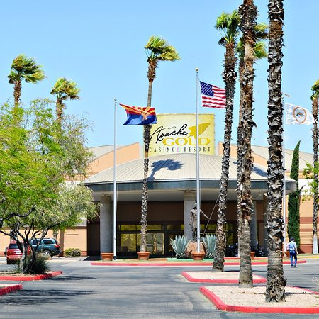 San Carlos, AZ: Apache Gold Casino entrance.