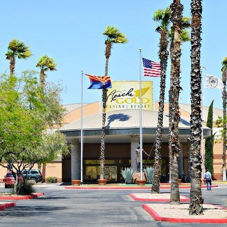 San Carlos, AZ : Apache Gold Casino entrance.