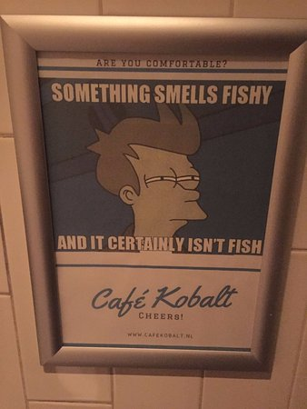 Cafe Kobalt: Ridiculously offensive ad in the women's toilets!