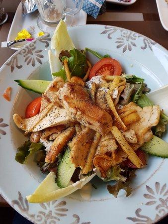 Brasserie Agrea : Salade met kip
