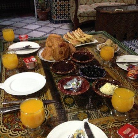 Dar el Yasmine: Petit déjeuner