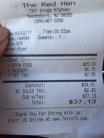 The Red Hen, Swedesboro - Restaurant Reviews, Phone Number ...