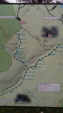 Benton, เพนซิลเวเนีย: Helpful map of all the falls and hiking options! Sweet hiking to you!!