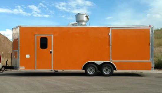 Gypsum, CO: Modern, clean and well-appointed, The Orange Taco Truck also utilizes a large, stand-alone BBQ u