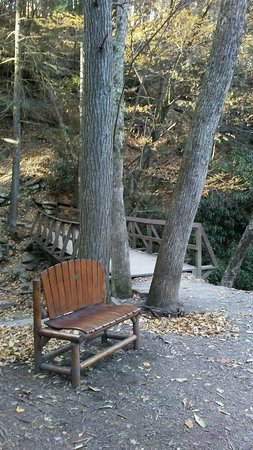 Trough Creek State Park: After a short easy walk, you are greeted with a gentle little fall and a cozy place to sit a spe