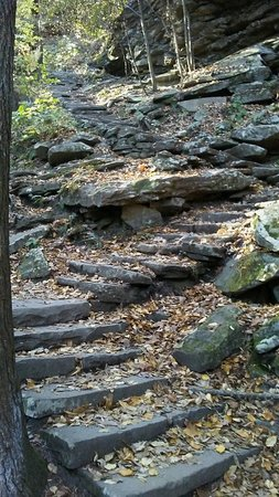 Trough Creek State Park: And then the steep step climb begins!