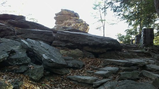 Trough Creek State Park: The majestic overlook has a ginormous rock formation that is fun to see! Let the picnic begin!!