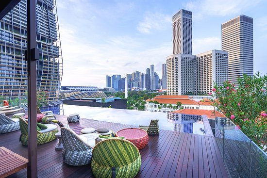 Naumi Hotel: Infinity Pool with Views of the Singapore Skyline