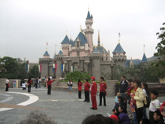 Sleeping Beauty Castle (Hong Kong Disneyland) inspired by Neuschwanstein Castle