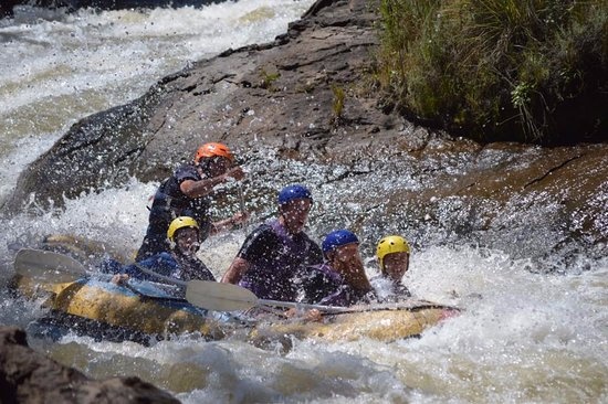 Clarens, Sudafrica: shock and awe coming down the rapid - got out, carried back and did it AGAIN!! :)