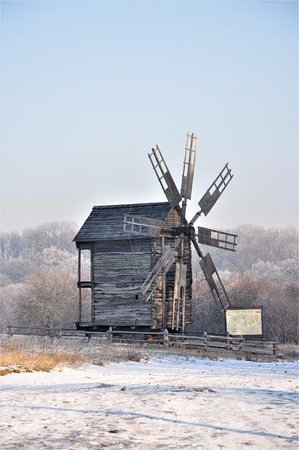 Pirogovo Open-Air Museum : one of the windmills