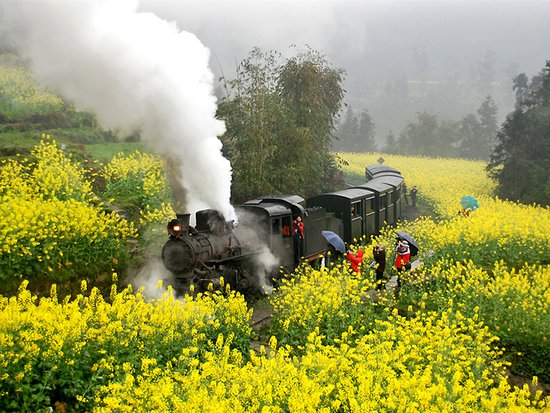 Sichuan, China: JIaYang Train