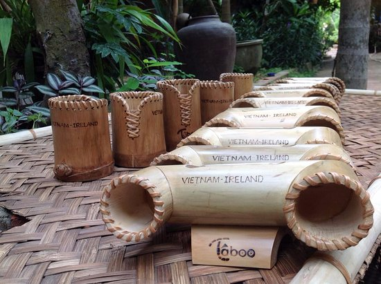 Taboo Bamboo Workshop: Loa tre, hộp để bút bằng tre Taboo