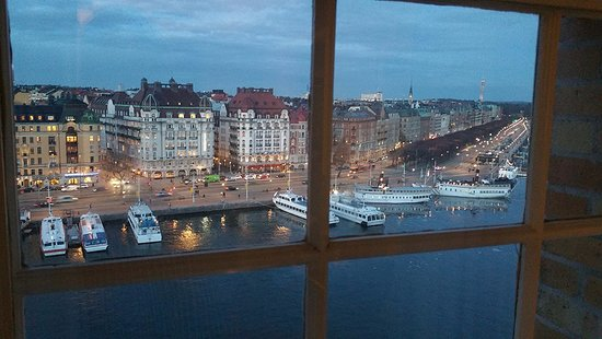 Radisson Blu Strand Hotel, Stockholm: View from the 9th floor. Room with view over the harbour.